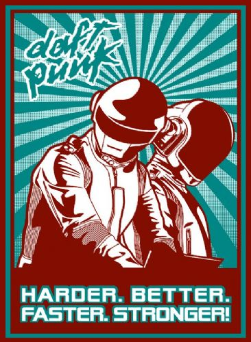 DAFT PUNK - Harder - pop art (8) canvas print - self adhesive poster - photo print